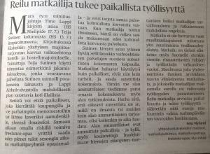 Kirjoitin aiheesta Helsingin Sanomien yleisökirjoituspalstalle helteisenä heinäkuun päivänä 2014.