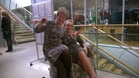 In Jyväskylä we had the right dress code; at least matching the chair.