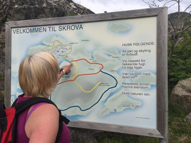 La skruva reittikartta